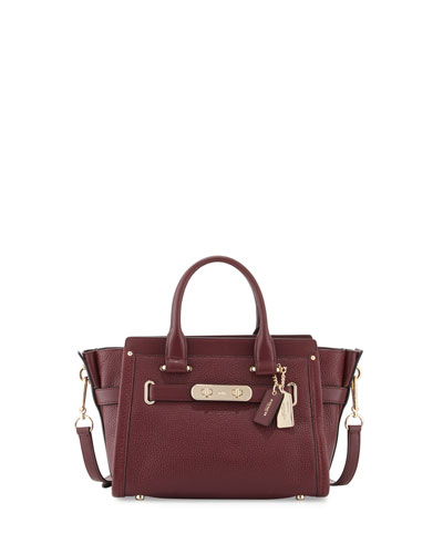 Swagger 27 Leather Satchel Bag, Burgundy