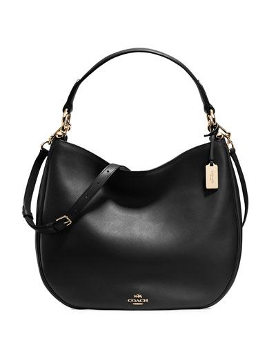 Nomad Leather Hobo Bag, Black