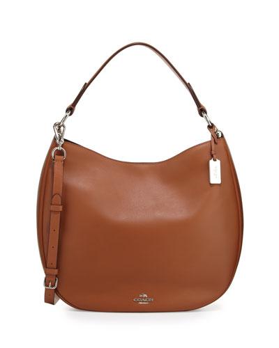 Nomad Leather Hobo Bag, Saddle
