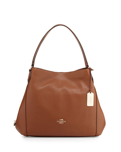 Edie 31 Leather Shoulder Bag, Saddle