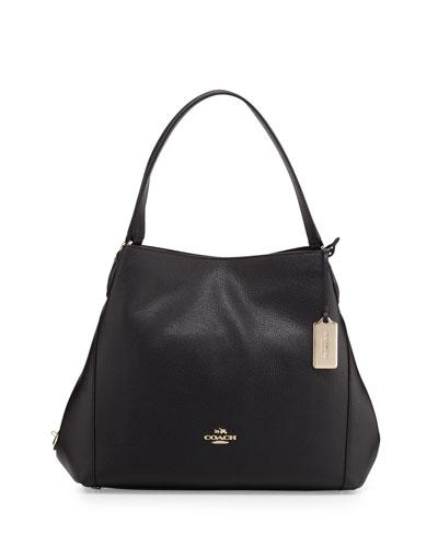 Edie 31 Leather Shoulder Bag, Black