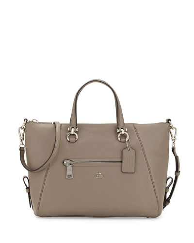 Primrose Leather Satchel Bag, Fog