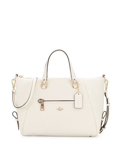 Primrose Leather Satchel Bag, Chalk