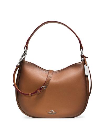 Nomad Leather Crossbody Bag, Saddle