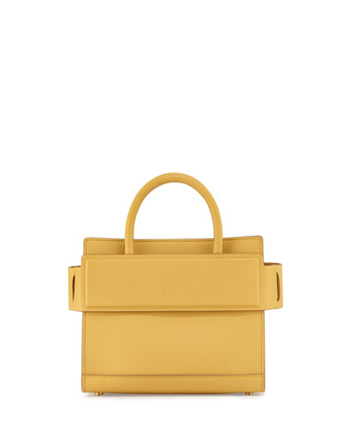 Horizon Mini Leather Satchel Bag, Yellow