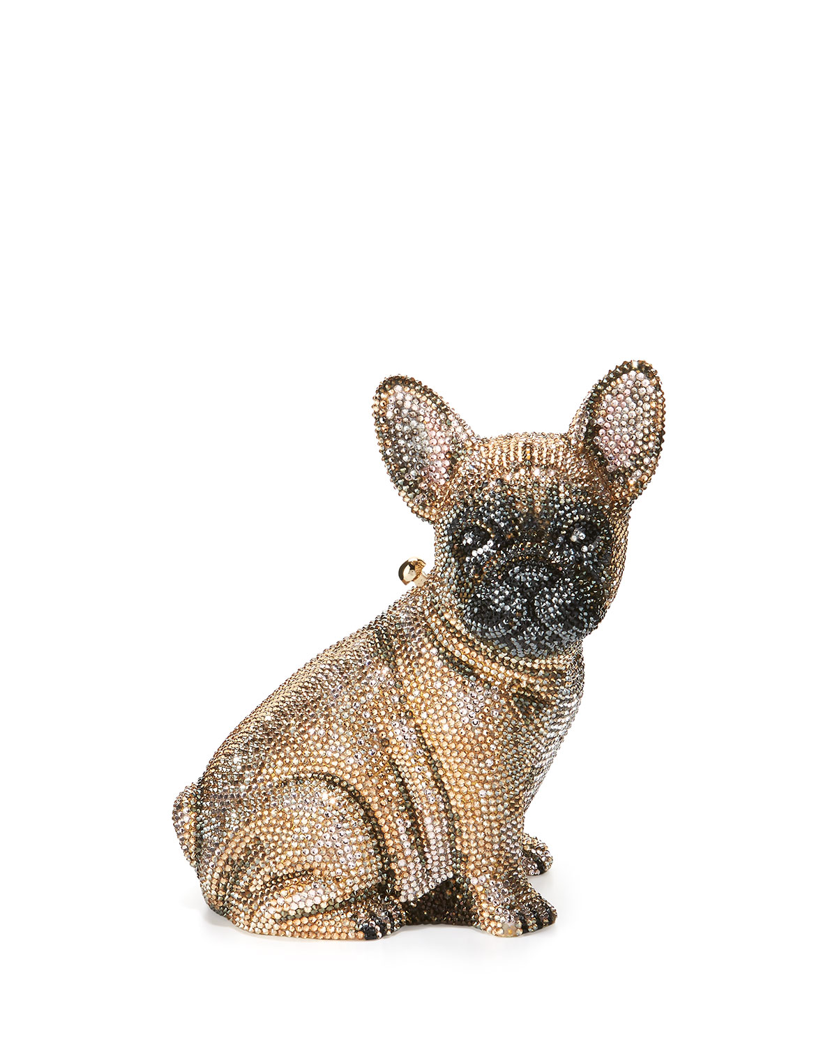 Pierre French Bulldog Crystal Clutch Bag, Champagne