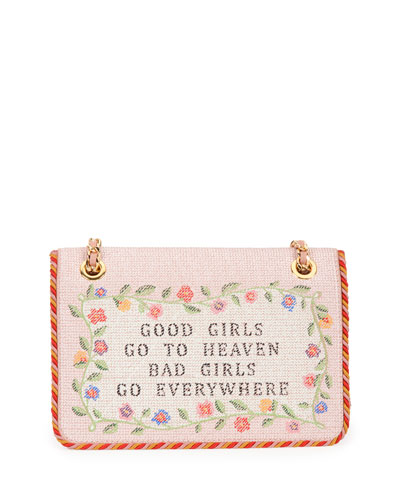 Good Girls Go to Heaven Shoulder Bag, Nude