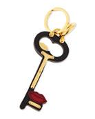 Lips Key Charm, Black/Red (Nero/Fuoco)