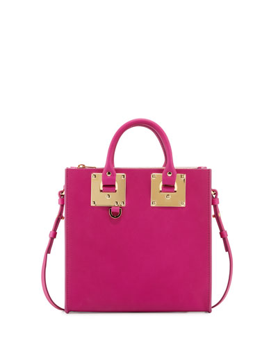 Albion Square Tote Bag, Dark Fuchsia