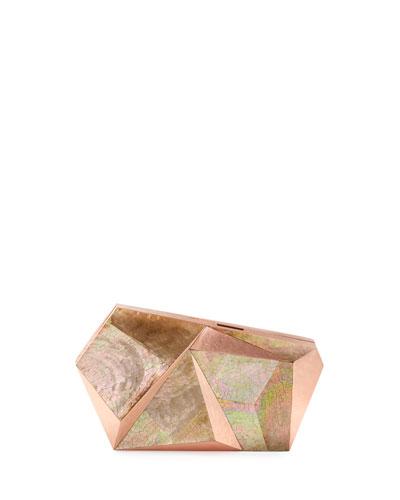 Azura Asymmetric Minaudiere, Rose Copper