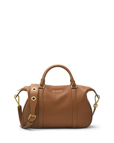 Raven Large Leather Satchel Bag, Luggage