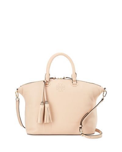 Thea Medium Slouchy Leather Satchel Bag, Sweet Melon