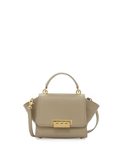 Eartha Mini Leather Crossbody Bag, Beige