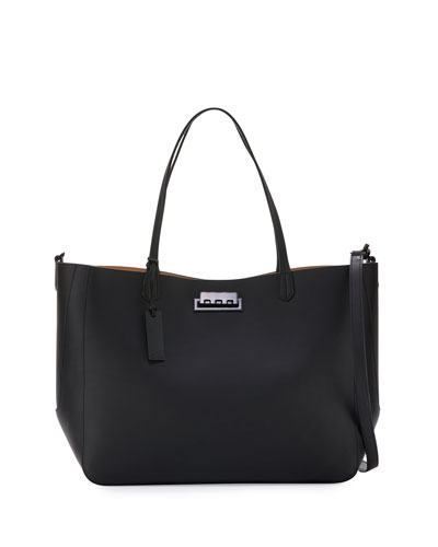 Eartha Everyday Signature Shopper Tote Bag, Black
