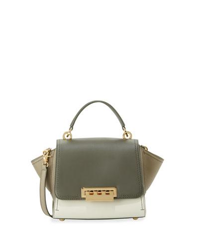 Eartha Mini Leather Crossbody Bag, Olive