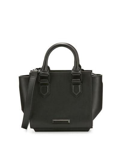 Brook Mini Leather Satchel Bag, Black