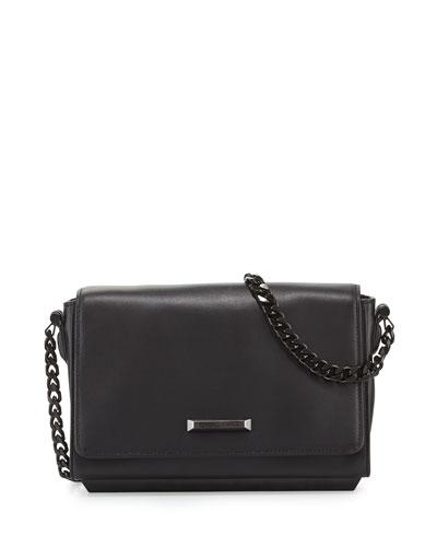 Adley Leather Shoulder Bag, Black