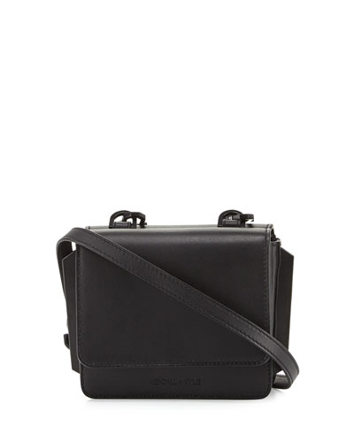 Baxter Mini Leather Crossbody Bag, Black