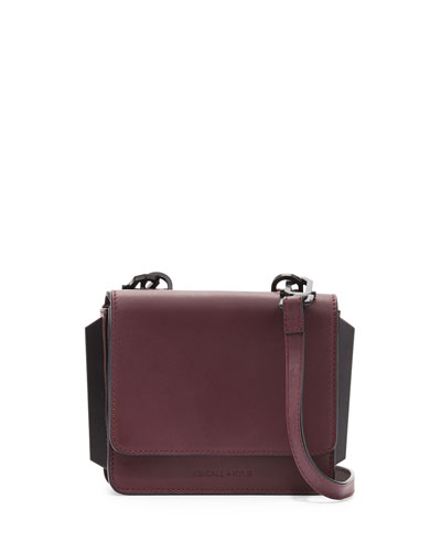 Baxter Mini Leather Crossbody Bag, Red Plum