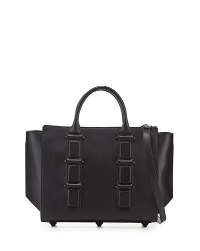 Katherine Leather Satchel Bag, Black