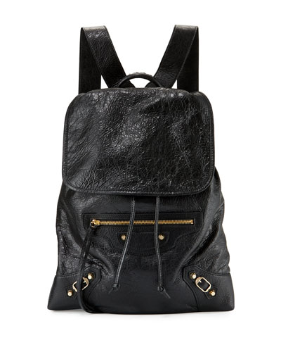 Classic Traveler Small Leather Backpack