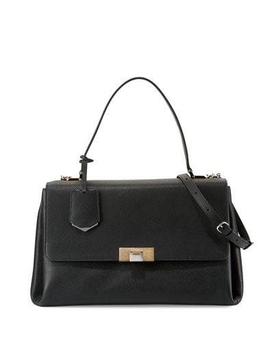 Le Dix Soft Satchel Bag, Black