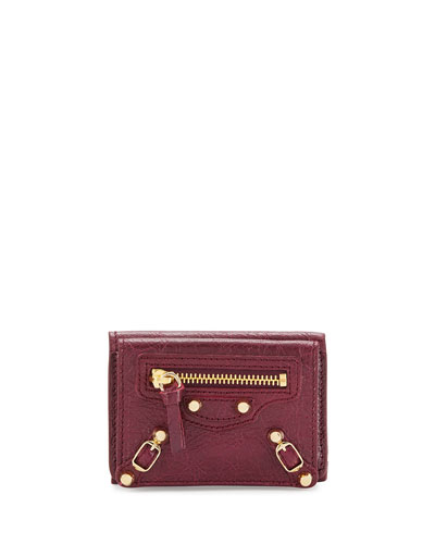 Classic Mini Leather Wallet, Violet