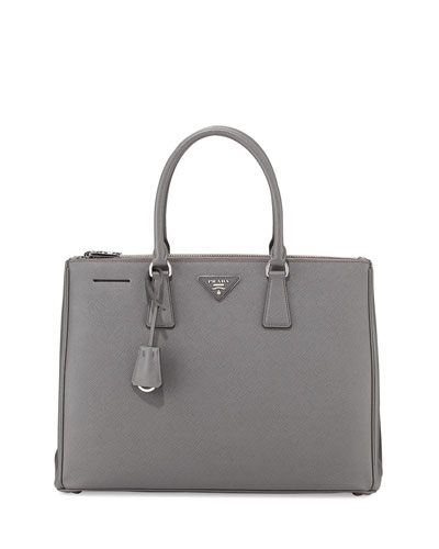 Saffiano Lux Executive Tote Bag, Dark Gray (Marmo)