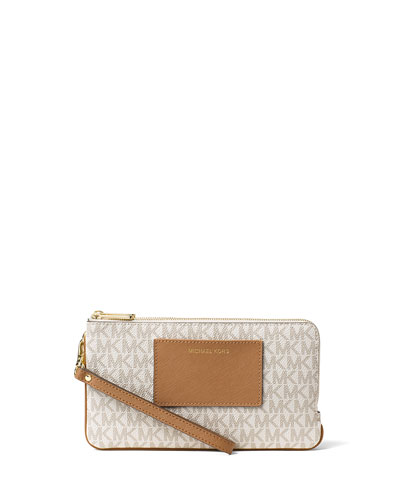Bedford Large Double-Zip Wristlet