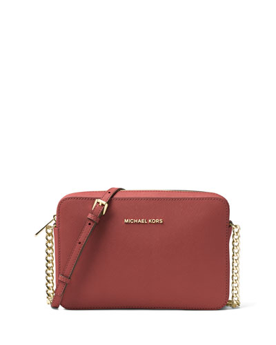 Jet Set Travel Large Crossbody Bag, Brick