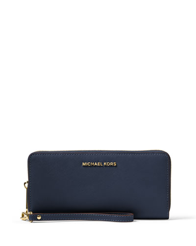 Jet Set Travel Continental Wristlet Wallet, Admiral
