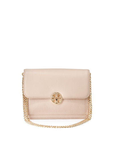 Duet Chain Convertible Shoulder Bag, Light Oak/Sparkly Gold