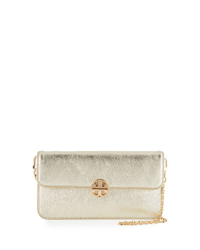 Metallic Envelope Clutch Bag, Spark Gold