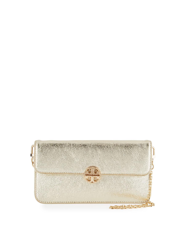 Metallic Envelope Clutch Bag, Spark Gold