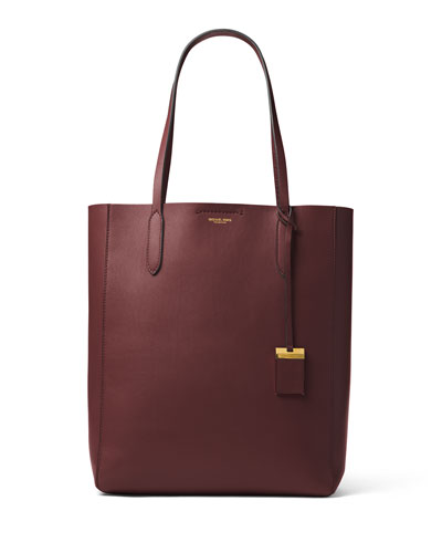 Eleanor Large North-South Tote Bag, Burgundy