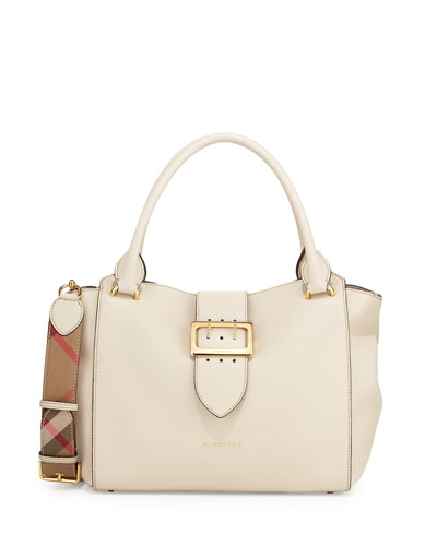 Buckle Medium Tote Bag, Limestone