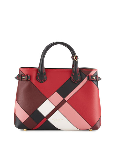 Banner Medium Patchwork House Check Tote Bag, Pink