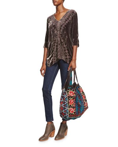 Harlow Velvet Tote Bag