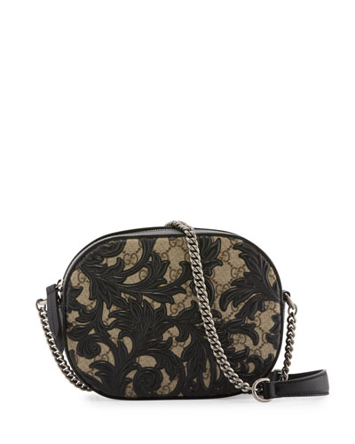 Arabesque GG Supreme Mini Chain Bag, Black Arabesque