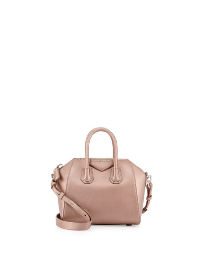 Antigona Mini Leather Satchel Bag, Light Pink