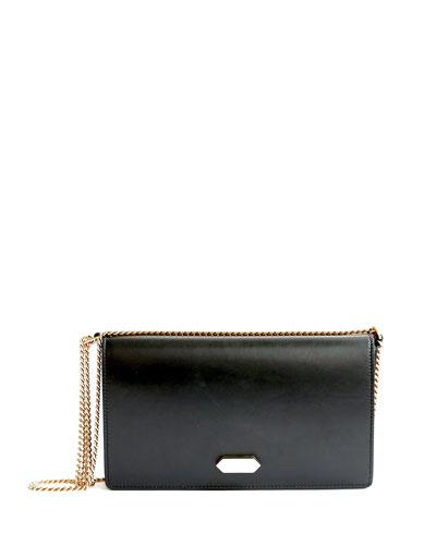 Dido Small Full-Flap Crossbody Bag, Black/Red Capri