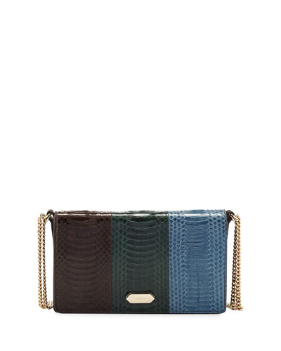 Dido Small Full-Flap Crossbody Bag, Brown/Green/Blue