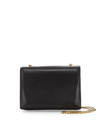 Ines Leather Shoulder Bag, Onyx