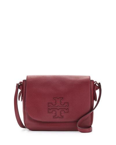 Harper Leather Messenger Bag, Dark Merlot