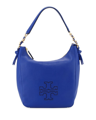 Harper Leather Zip Hobo Bag, Macaw