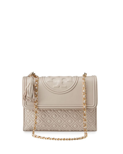 Fleming Quilted Convertible Shoulder Bag, Bedrock