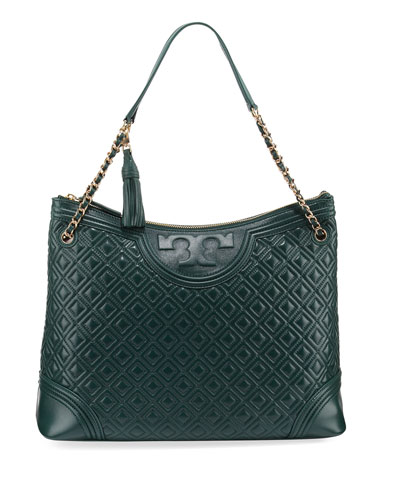 Fleming Quilted Leather Tote Bag, Norwood
