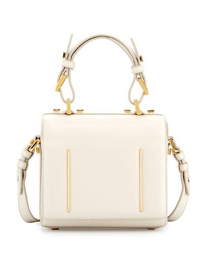 Marlene Small Leather Crossbody Bag, Lotus