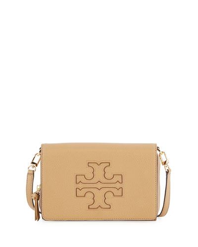 Harper Flat Wallet Crossbody Bag, Vintage Camel