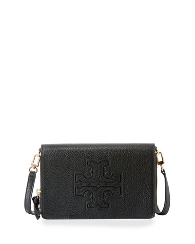 Harper Flat Wallet Crossbody Bag, Black